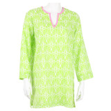 Perfect summer weight all cotton voile tunic. Easy care. Machine washable