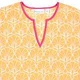 Nevis Sunset cotton voile tunic closeup