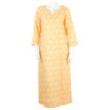 Lightweight 100% cotton voile women's caftan