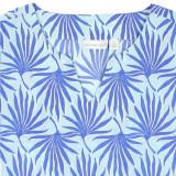 Blue 100% cotton caftan for women.