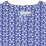 Blue and white cotton kaftan