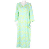 Soft cotton caftan for women. Great for lounging poolside or casual entertainig