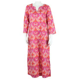 Colorful all cotton voile lightweight kaftan for women