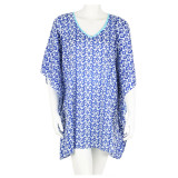 Light weight cotton voile one size fits most caftan. Casual and comfortable easy kaftan.