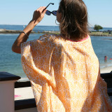 Lightweight pure cotton voile caftan. Perfect beach cover up