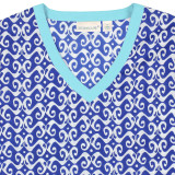 Blue tunic lightweight voile cotton