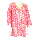Newport Coral cotton voile tunic top