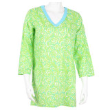 Womens cotton tunic beach cover up
