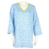 Women's v neck lightweight cotton tunic beach cover up