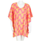 Palma Peach V-Neck Kaftan