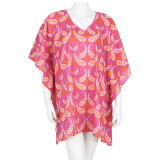 Pure cotton voile mid-thigh caftan.Perfect length for beach cover up