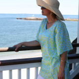 Lightweight all cotton voile one size fits most tunic