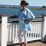 Sanibel Peri ~ Cotton Voile V-Neck Kaftan