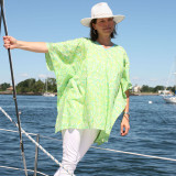 Jade green lightweight cotton voile tunic