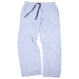 Women's all cotton blue and white classic seersucker lounge pants