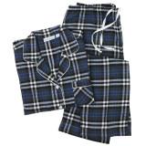 Women's long sleeve 100% cotton flannel pajama set