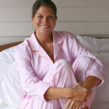 Women's long sleeve crisp 100% cotton pajamas