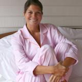 Women's long sleeve crisp 100% cotton pajamas