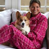 Classic boyfriend style soft, 100% cotton pajamas for women