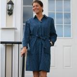 Women's classic cotton button-down shirtdress