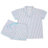Women's cotton short sleeve shorty pj set