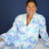 Women's  100% soft woven cotton pajama set. Not knit cotton