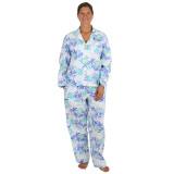 Women's  long sleeve cool crisp cotton poplin pajama set