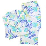 Women's  best long sleeve printed cotton poplin year round pajama set