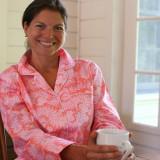 Women's printed soft cotton poplin long sleeve pajamas