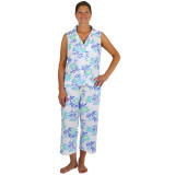 Cool and comfy 100 % cotton sleeveless summer pajamas