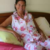 Women's printed cotton poplin soft sleeveless pajamas