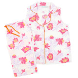 Cool and comfortable, women's soft sleeveless pajamas