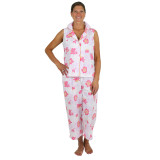 Women's printed cotton summer sleeveless pajamas