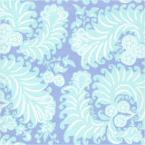 Fabric swatch of Sonya Blue printed cotton poplin