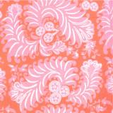 Fabric swatch of Sonya Pink printed cotton poplin