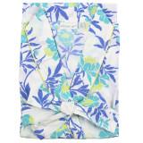 Women's  crisp soft cotton poplin wrap bathrobe