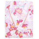 Women's printed cotton poplin robe