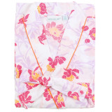Women's printed all cotton poplin robe