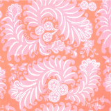 Fabric swatch of Sonya Pink printed cotton poplin