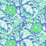 Swatch of 100% cotton voile in a blue/green floral design