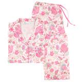 Button-down, cotton poplin classic style long sleeve pajama.