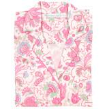 Button down, cotton poplin nightshirt with side-seam pockets.