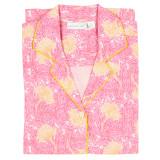Women's 100 percent cotton, long sleeve, button down nightshirt
