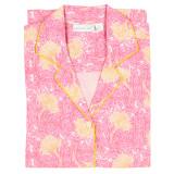Women's 100 percent cotton, long sleeve, button down nightshirt