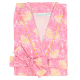 Women's 100% cotton poplin wrap robe