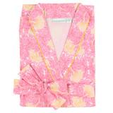Women's 100% cotton poplin wrap robe