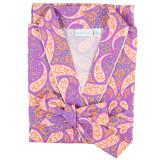 Women's 100% cotton shawl collar, wrap robe
