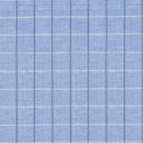 Swatch of our Darby, blue plaid classic yarn-dyed cotton for our shawl collar wrap robe