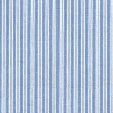 Classic blue and white stripe yarn dyed woven cotton robe with shawl collar
