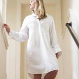 Women's white lightweight soft cotton nightshirt
